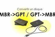 Convertir un disque GPT en MBR et inversement sur Windows 10, 8 ou 7