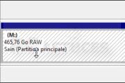 Réparer un disque dur passé en RAW
