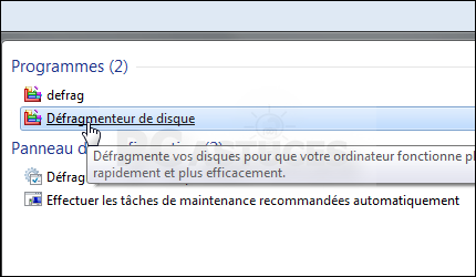 defragmentation automatique w7 03