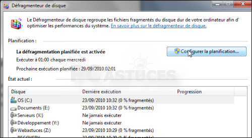 defragmentation automatique w7 04